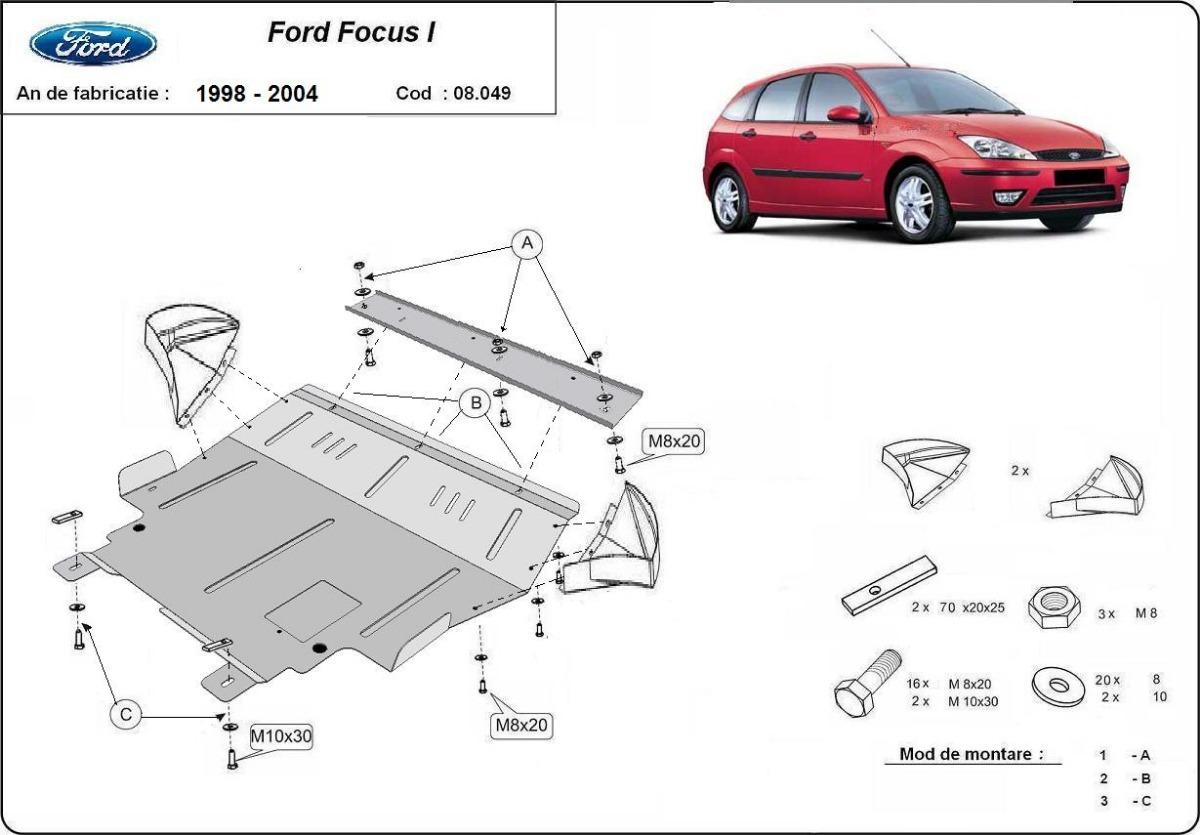 Steel Skid Plate For Ford Focus 1 Daewoo Espero Engine Diagram