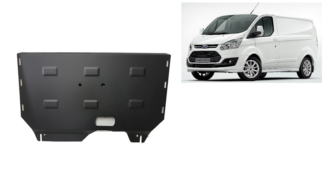GEARBOX GUARD SKID PLATE UNDERTRAY up ENGINE FORD TRANSIT CUSTOM 2013