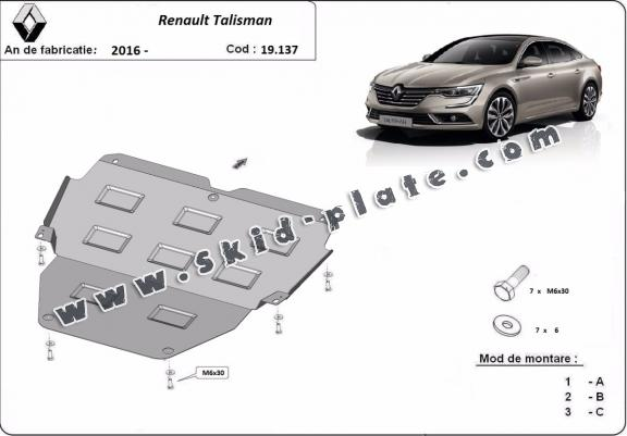Steel skid plate for  Renault Talisman