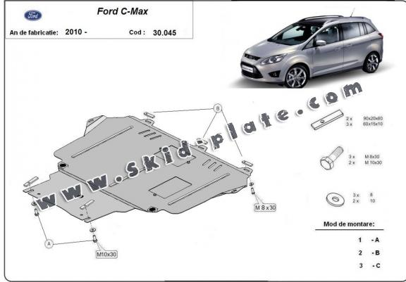 Steel skid plate for Ford C - Max