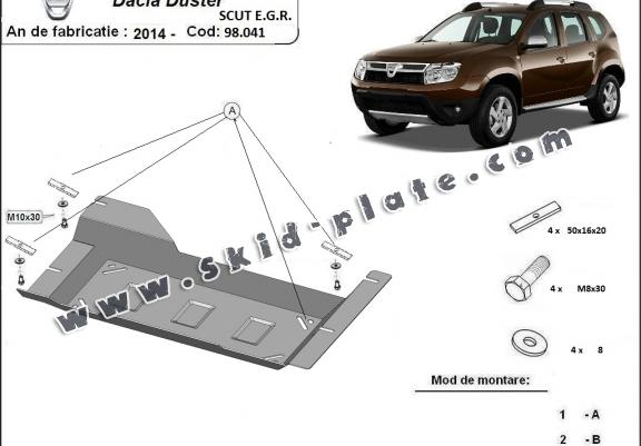 Steel EGR, system STOP&GO guard  for Dacia Duster