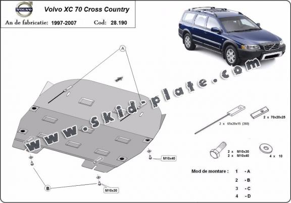 Steel skid plate for Volvo XC70 Cross Country