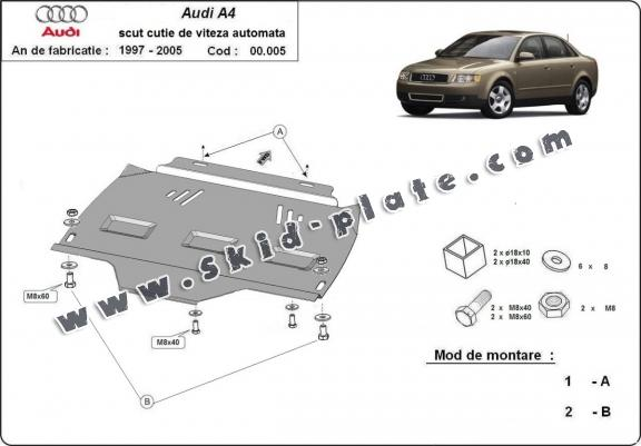steel automatic gearbox skid plate foraudi a4 2