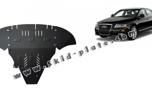 Steel skid plate for Audi A6 avec laterale