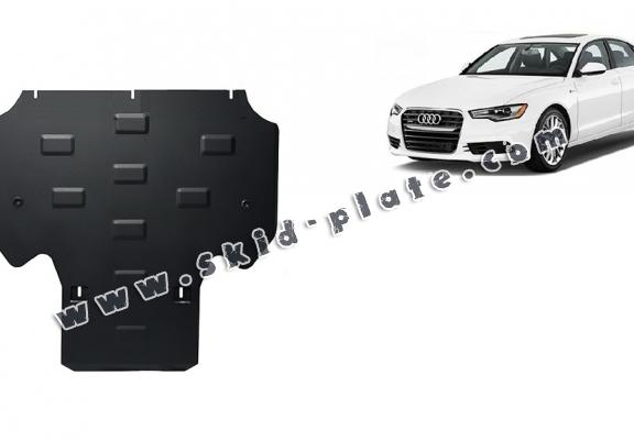 Steel gearbox skid plate for Audi A6