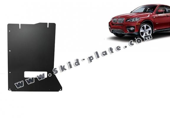 Steel gearbox skid plate for BMW X6
