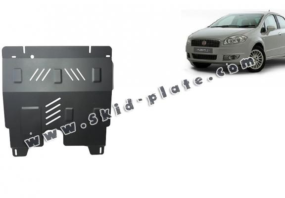 Steel skid plate for Fiat Linea