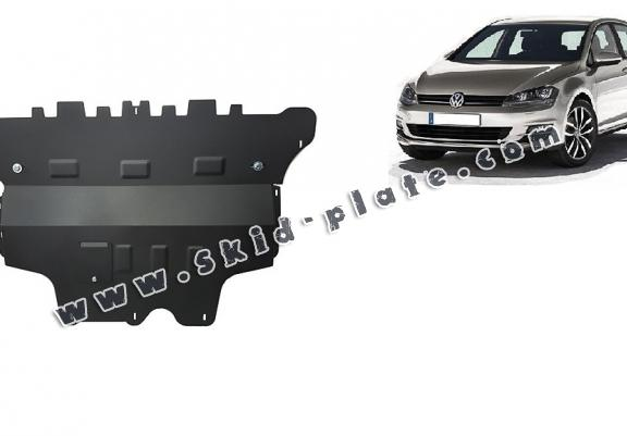 Steel skid plate for the protection of the engine and the gearbox for VW Golf 7