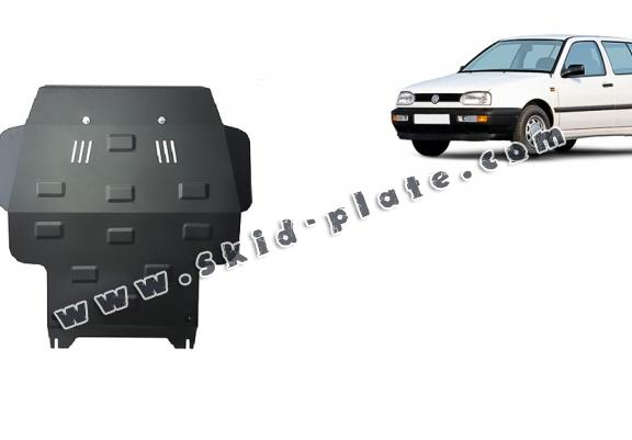 Steel skid plate for VW Golf 3