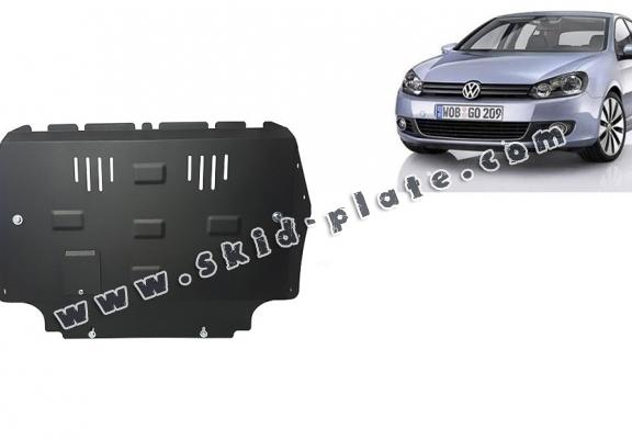Steel skid plate for VW Golf 6
