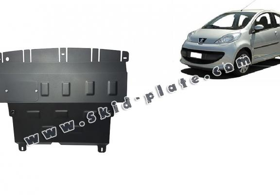 Steel skid plate for Peugeot 107