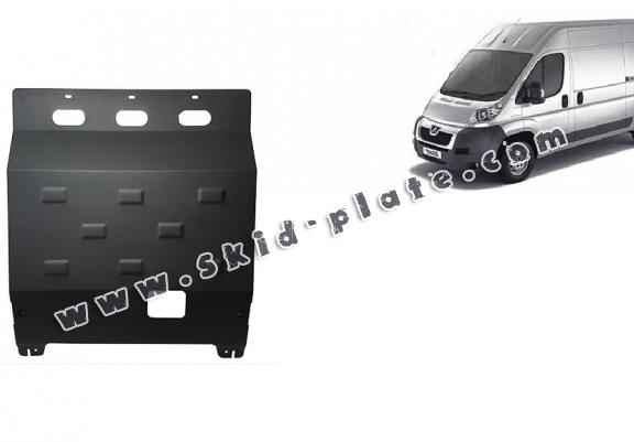 Steel skid plate for Peugeot Boxer