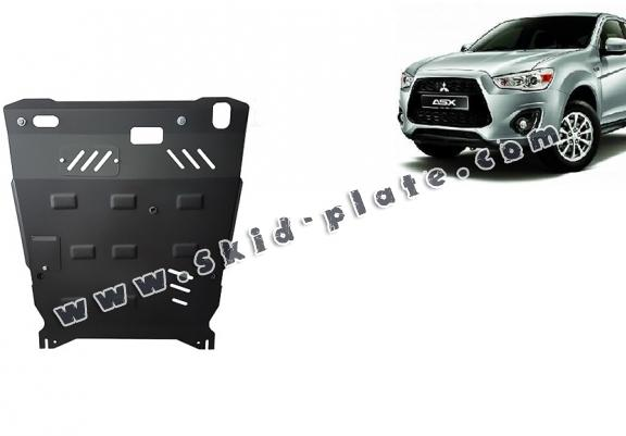 Steel skid plate for the protection of the engine and the gearbox for Mitsubishi ASX