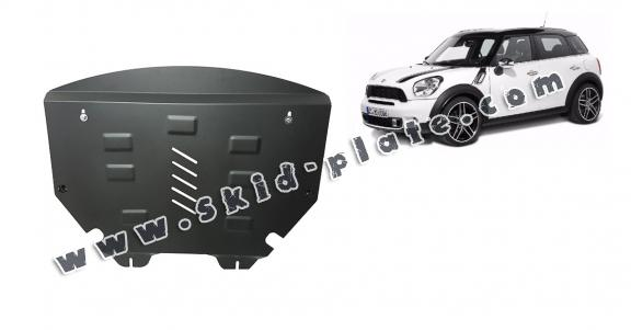 Steel skid plate for the protection of the engine and the gearbox for Mini Countryman