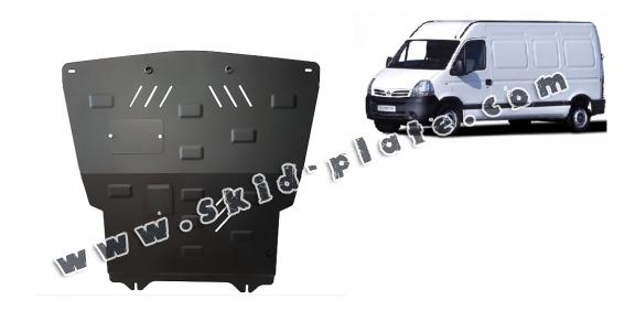 Steel skid plate for Nissan Interstar