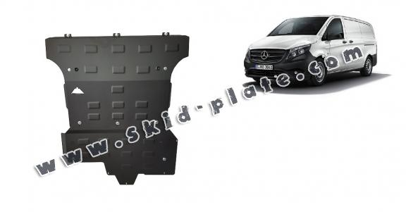 Steel skid plate for Mercedes Vito W447, 2.2 D, 4x4