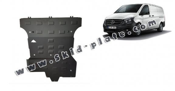 Steel skid plate for Mercedes V-Class W447, 2.2 D, 4x4