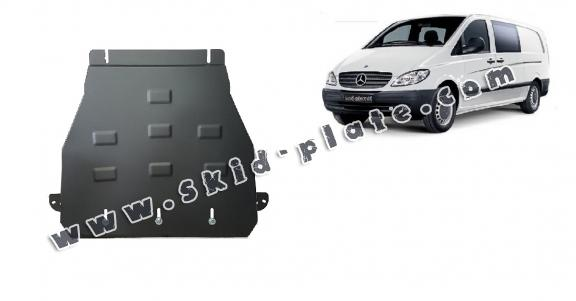 Steel gearbox skid plate for Mercedes Vito W639 - 2.2 D 4x2