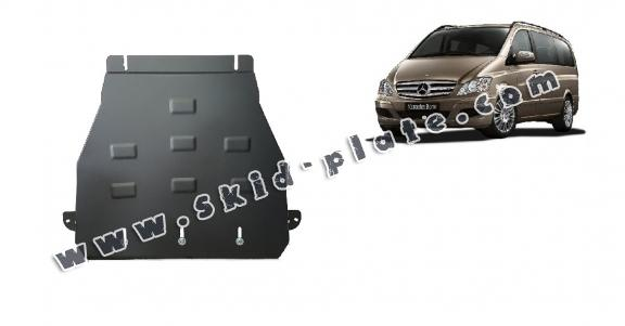 Steel gearbox skid plate for Mercedes Viano W639 - 2.2 D 4x2