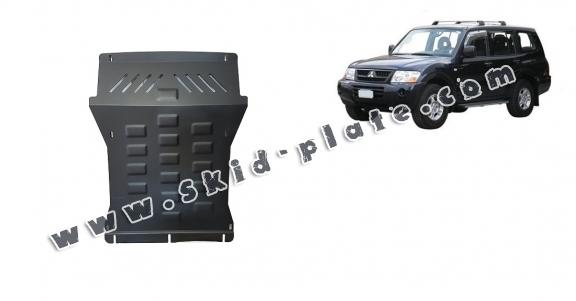 Steel skid plate for the protection of the engine and the radiator for Mitsubishi Pajero 3 (V60, V70) Vers. 2.0