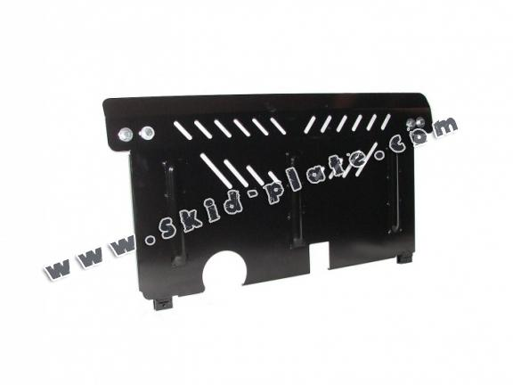 Steel skid plate for the protection of the engine and the gearbox for Hyundai i 20