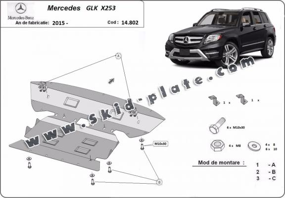 Steel skid plate for  Mercedes GLK X253