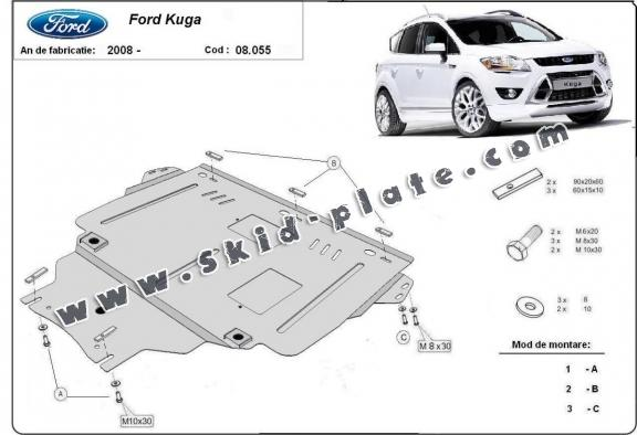 Steel skid plate for Ford Kuga