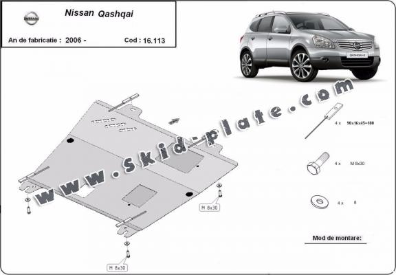 Steel skid plate for Nissan Qashqai