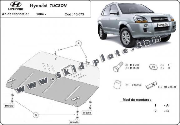 Steel skid plate for Hyundai Tucson