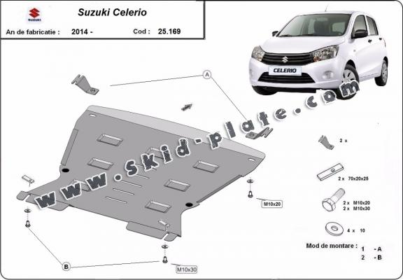 Steel skid plate for Suzuki Celerio