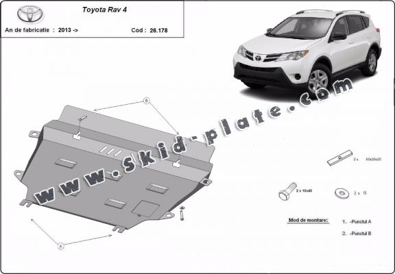 Steel skid plate for Toyota RAV 4