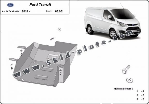 Steel AdBlue tank plate for Ford Transit Custom