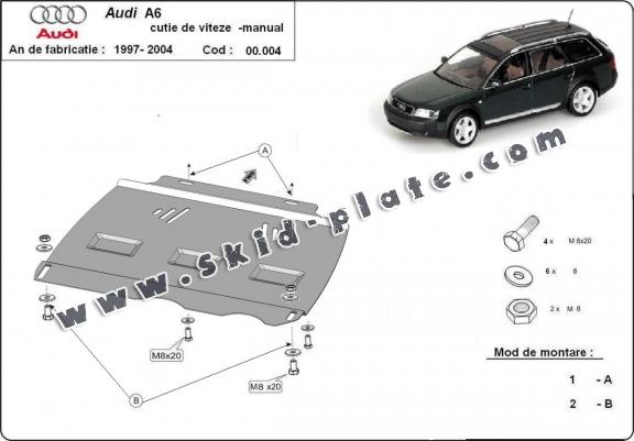 Steel manual gearbox skid plate  Audi A6