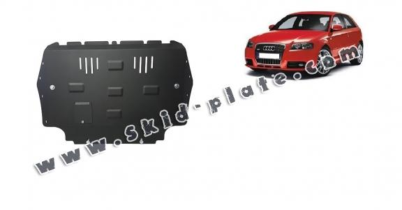 Steel skid plate for the protection of the engine and the gearbox for Audi A3
