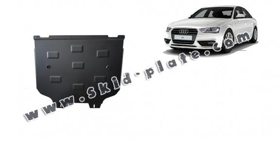 Steel gearbox skid plate for Audi A4 B9