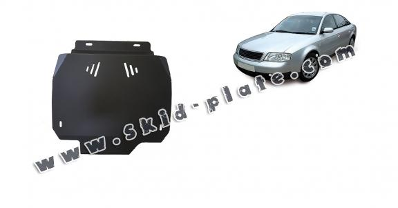 Steel automatic gearbox skid plate forAudi A6