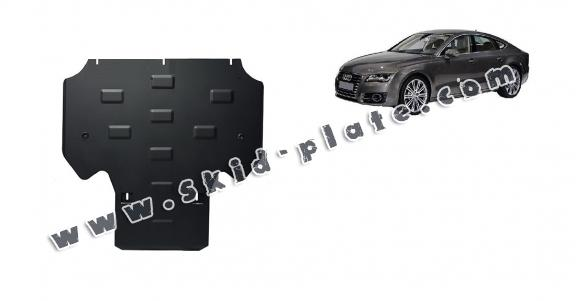 Steel gearbox skid plate for Audi A7
