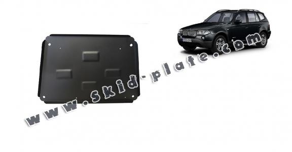 Steel skid plate for BMW X3