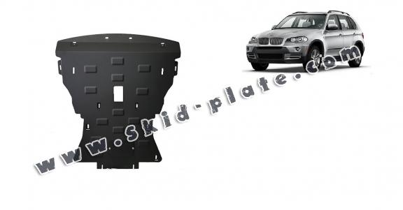 Steel skid plate for BMW X5