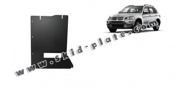 Steel gearbox skid plate for BMW X5