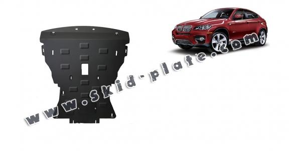 Steel skid plate for BMW X6