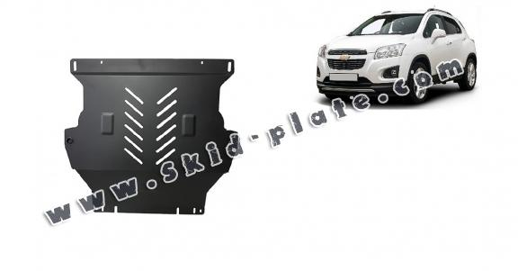 Steel skid plate for the protection of the engine and the gearbox for Chevrolet Trax
