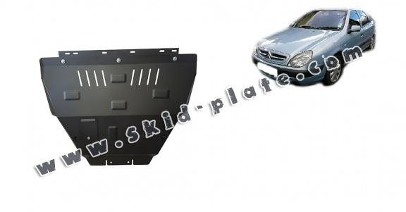 Steel skid plate for the protection of the engine and the gearbox for  Citroen Xsara