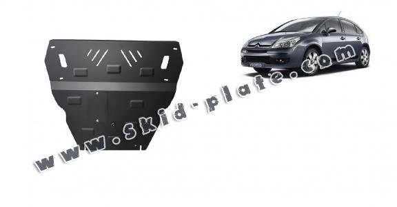 Steel skid plate for Citroen C4