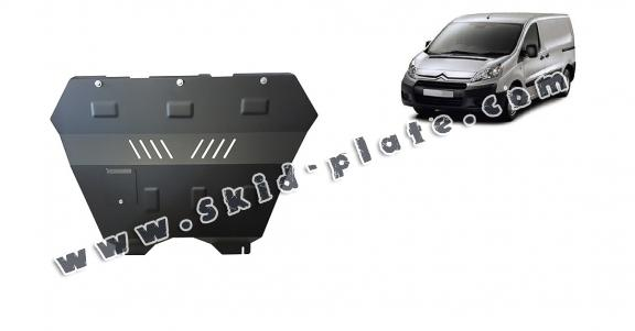 Steel skid plate for the protection of the engine and the gearbox for Citroen Jumpy