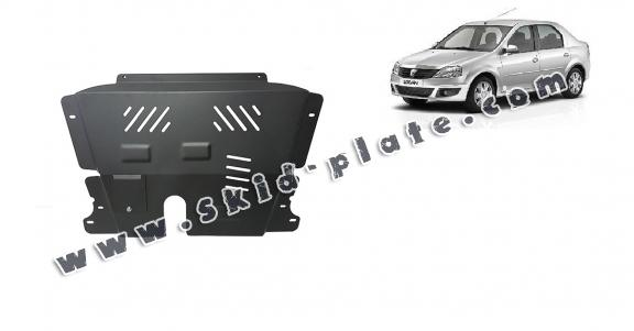 Steel skid plate for Dacia Logan 1