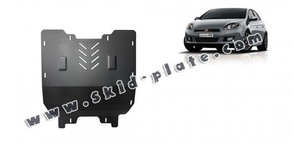Steel skid plate for the protection of the engine and the gearbox for Fiat Bravo