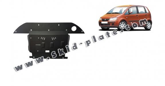 Steel skid plate for the protection of the engine, gearbox and differential for Fiat Idea