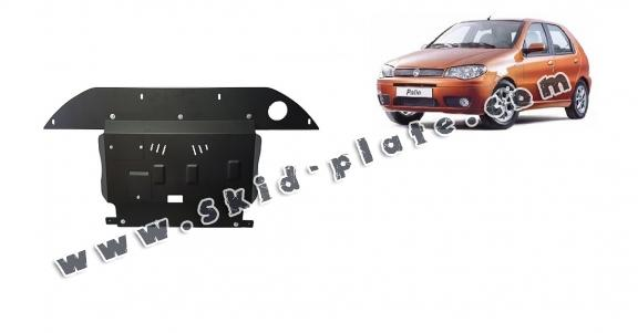 Steel skid plate for the protection of the engine, gearbox and differential for Fiat Palio
