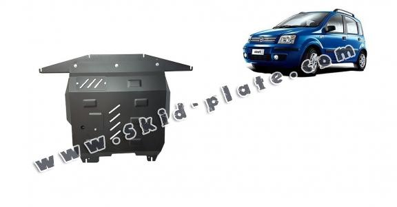 Steel skid plate for Fiat Panda